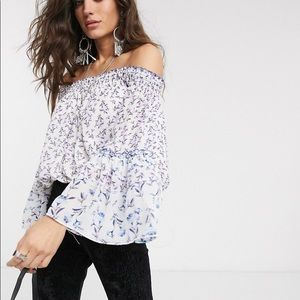 NWT Free People Rose Valley Top